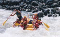 White-water rafting at Pacuare